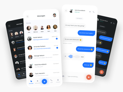Simple Messaging App Concept page ux ui design mobile concept app messaging simple