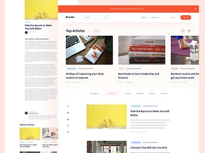 Simple Blog Concept simple blog concept desktop website page ux ui design