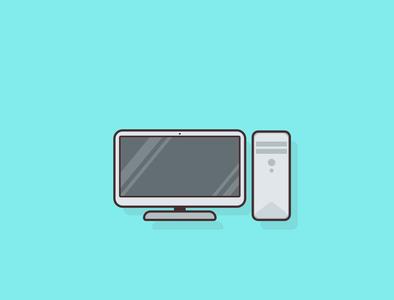 #28daysillustrationchallenge for myself - Day 5 Computer