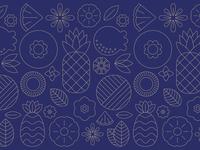 Blue Hawaii Pattern