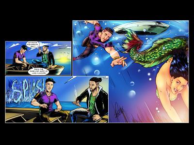 Mermaid Final Art Dri colorist inker penciler sequential art cd art cover art illustration comic art