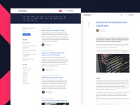 Sprockets Blog Interface