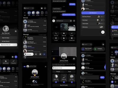 Social Concept Application (Dark)