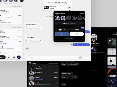 Social Concept Application (iPad) ipados ios moment groups chat message ipad app ipad layout platform ui application app behance sketch concept design