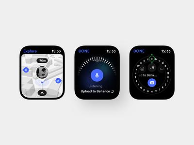 Calendar Concept Application (Watch) applewatch voice over voice map inputs input box input field input watch platform ui application app behance sketch concept design