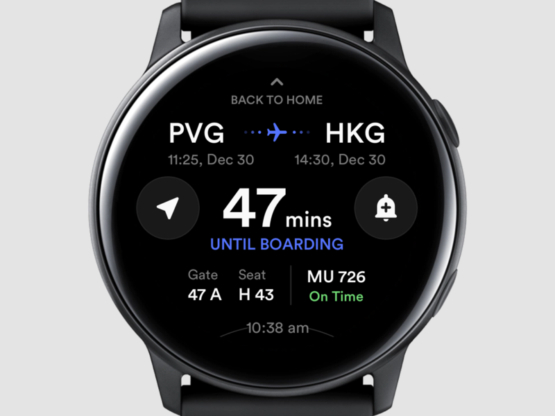 Flight Notification Watch Version notifications notification center notification flight booking flight app plane flight layout platform ui application app behance sketch concept design