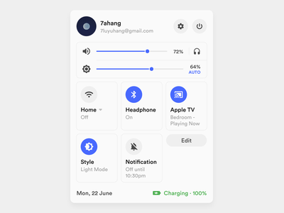 System Status Concept materials material ui material controls control statusbar status system design systems system dark layout platform ui application app sketch concept design
