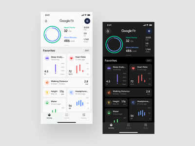 Activity Concept Application health app care health care balance fitbit fitness fit healthy activity tracker activity health dark layout platform ui application app sketch concept design