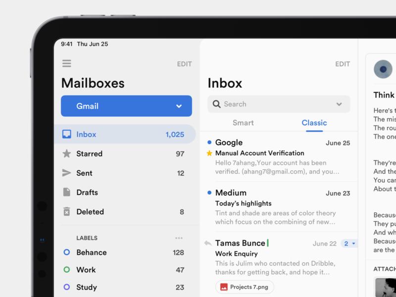 Mailbox Concept Application bars sidebar navigation sidebar design sidebar menu sidebar mailbox inbox email design email dark layout platform ui application app sketch concept design
