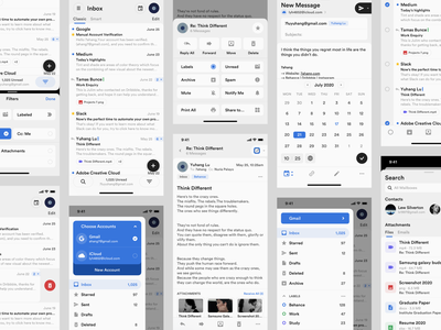 Mailbox Concept Application (Mobile) bars main page ios mobile homepage email receipt email template email design mailbox mail email dark layout platform ui application app sketch concept design