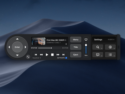 Video Player (macOS) audio movie play controller videoplayer video player ui players cd dvd player dark layout platform ui application app sketch concept design