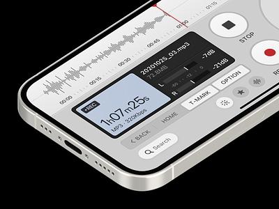 Voice Recorder (Light) ahang version lightui record label records recording record recorder lightmode light layout platform ui application app sketch concept design