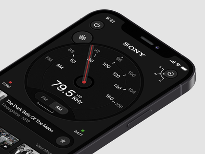 Digital Radio 7ahang sony panels panel dashboard design dashboard ui dashboard radio button radio digital dark layout platform ui application app sketch concept design
