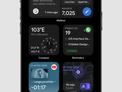Tool Widgets 2 dashboad map youtube reminder compass mailbox panels dashboard design dashboard dark ui dark layout widget widgets ui application app concept sketch design