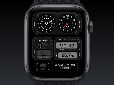 Citizen Watch Face watchos product clocks clock applewatch citizen watchface watch ui application app concept sketch design
