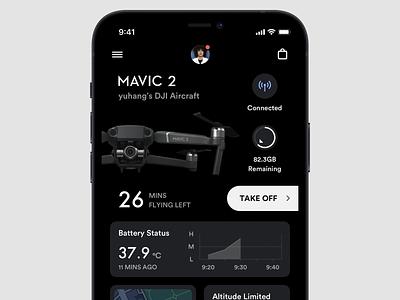Aircraft Controller Concept dashboard light dark panel controller control aircraft drone dji platform ui application app concept sketch design