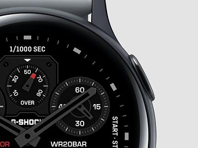 Casio Watch Face 3 alarm worldclock clock digital round watchos watchface watch casio platform ui application app concept sketch design