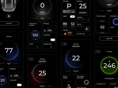 Car Platform Application carui carplay service car platform ui application app behance sketch concept design