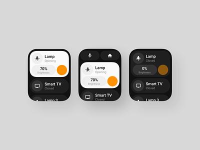 Smart Home (Watch) watchos watch apple smartwatch simple smarthome home smart application app behance sketch design concept