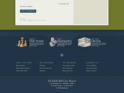 Website redesign footer
