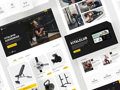 VitalGym. eCommerce website for home gym equipment figma filters cards catalog web sport gym brand responsive website ecommerce ux design ui