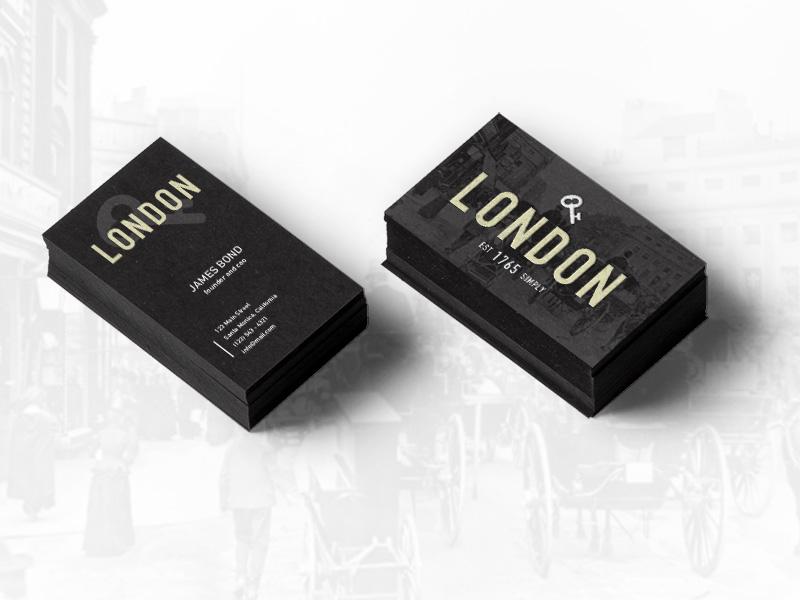 Business Card business card vintage black branding design