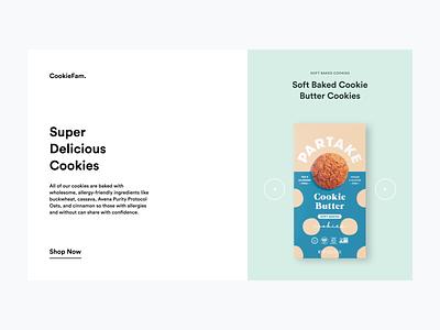 Cookie Fam — Hero Exploration vector branding figma modern flat design landing page clean minimal ui