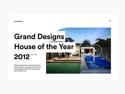 Grand Designs ux figma design modern clean landing page minimal ui