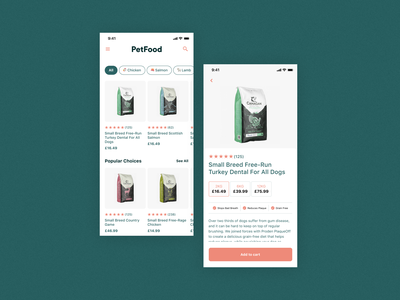 🐶Pet Food — iOS Concept App app figma clean design minimal ui