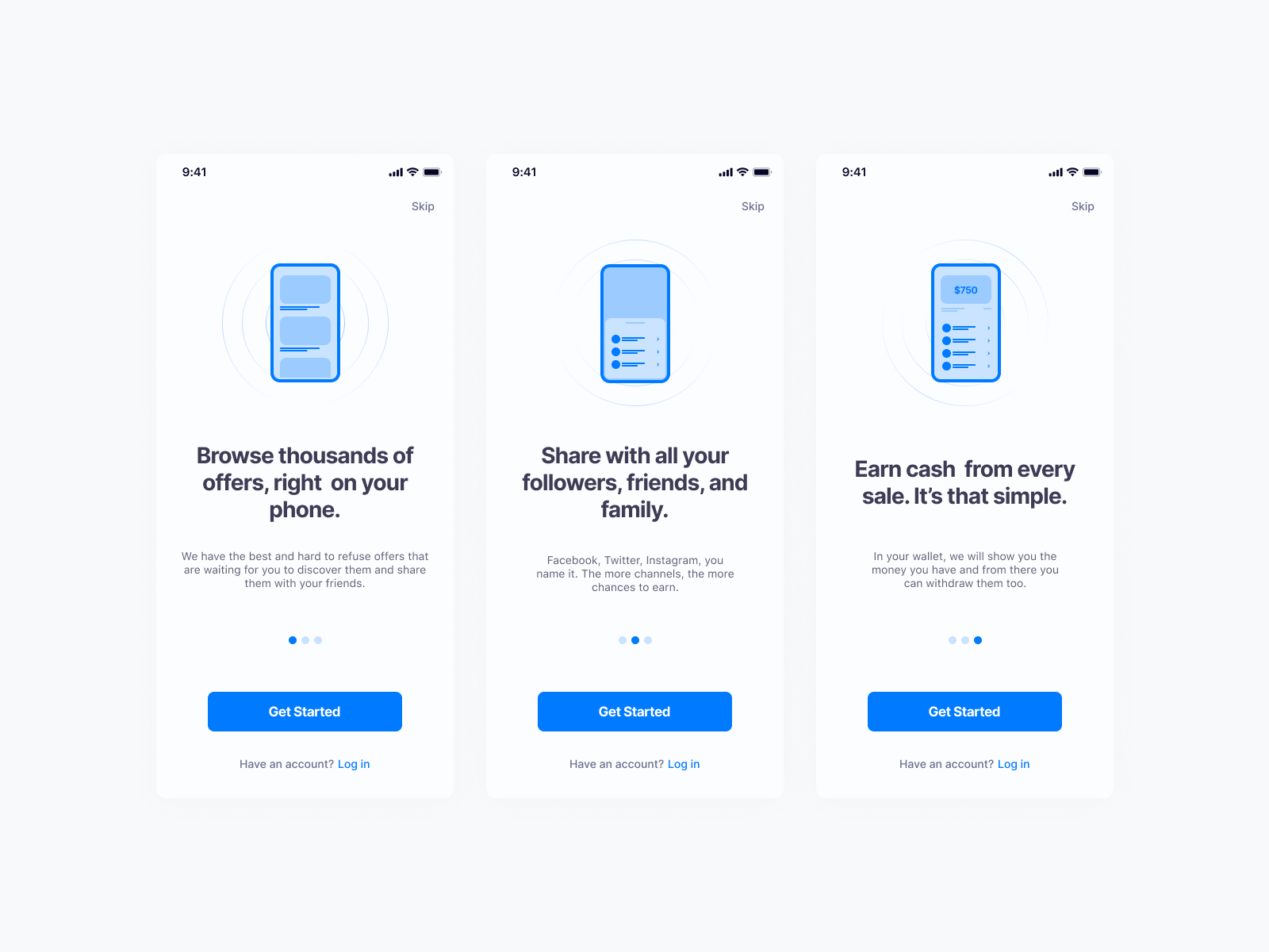 🚀 Onboarding screens for an upcoming app
