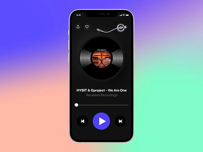 Concept for a Vinyl Music App protopie concept design gradient modern music player ui figma design clean minimal mobile application mobile app design mobile ui mobile app music player vinyl concept music app