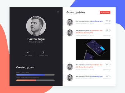 Daily UI Challenge #006 - User Profile mac website web app user interface colorful flat typography minimal ux ui