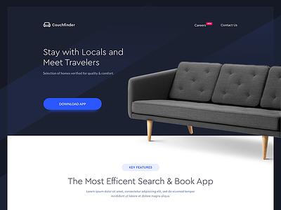 Couchfinder - Landing Page app app landing page clean web sketch ui ux
