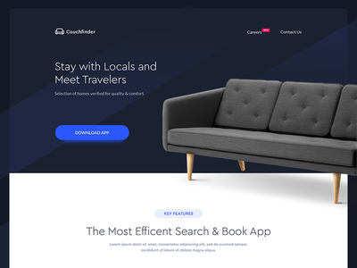 Couchfinder - Landing Page