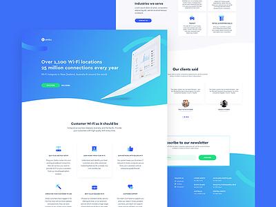 Zenbu - Landing Page Redesign zenbu blue wi-fi gradient minimal clean design ui sketch app landing page