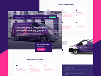 eCourier UK - Landing Page Redesign