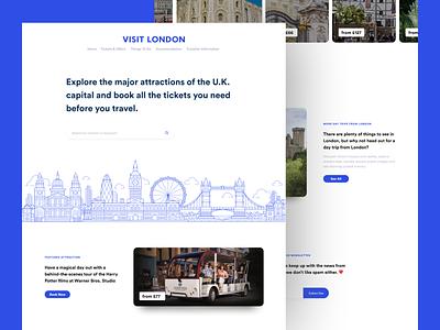 Visit London - Landing Page ux flat modern design landing page clean minimal ui