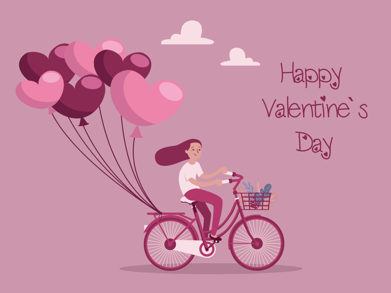 Happy Valentines Day 💘 bike like heart happy valentines love you love