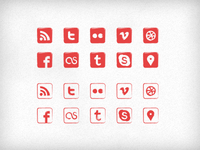 """Seal"" Social Icons (PSD)"