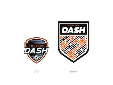 Houston Dash Rebrand houston dash houston nwsl crest soccer logo branding branding logo