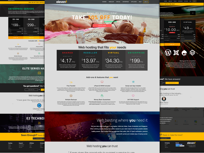 Eleven2 website web ui responsive portfolio mobile design creative corporate