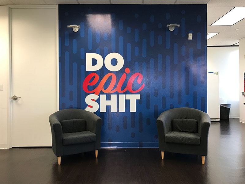 Do Epic Shit officespace office agency mural wallart wall