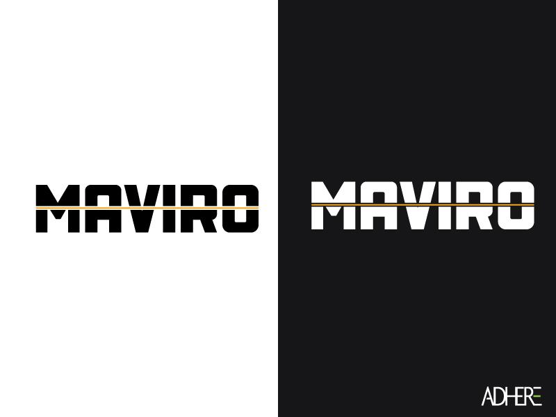 Maviro Logo htx houston texas white black gold identity industrial naming branding logo