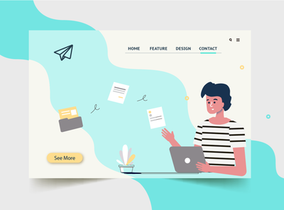 Contact Page ux website illustration design web contact page