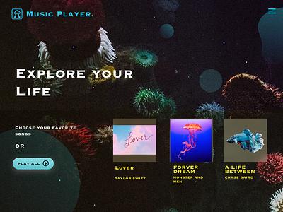 Music Player UI Design-1 7netic app music web ui design mp3