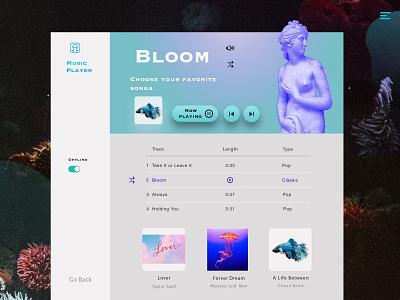 Music Player UI Design-2 7netic app web ui design