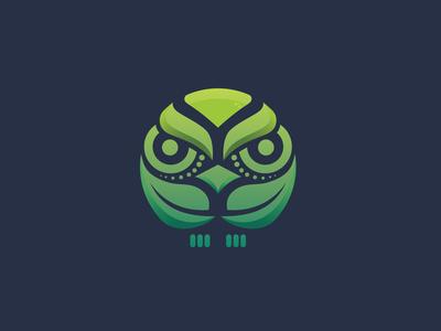 green owl logo design inspirations