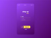 Login Page UI concept