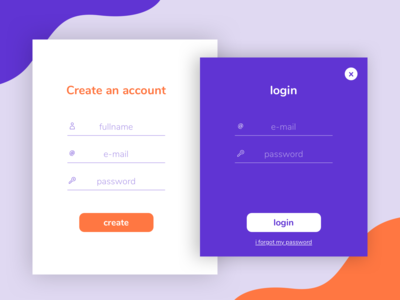 Sign in / Sign up UI Concept - Daily ui 01