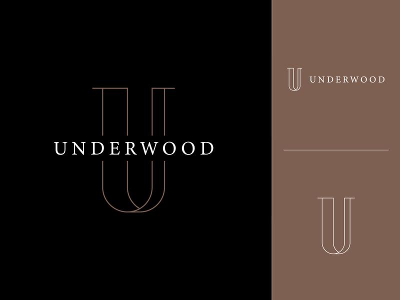 Underwood design presentation logo layout typeface type u leter brown art adobe black modern clean vector branding design logo